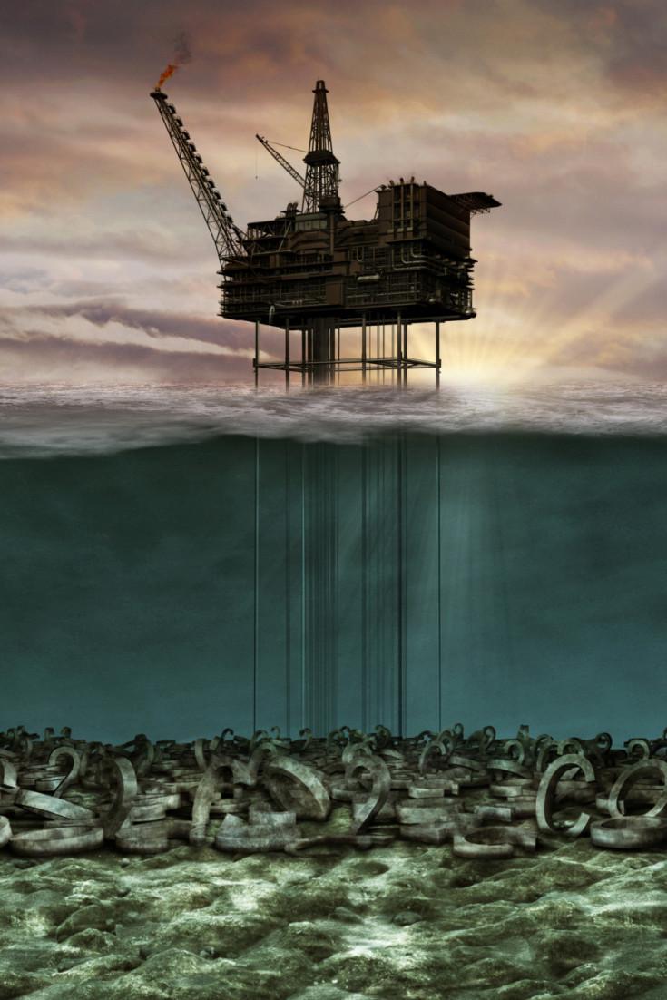 Underwater co2 oil rig